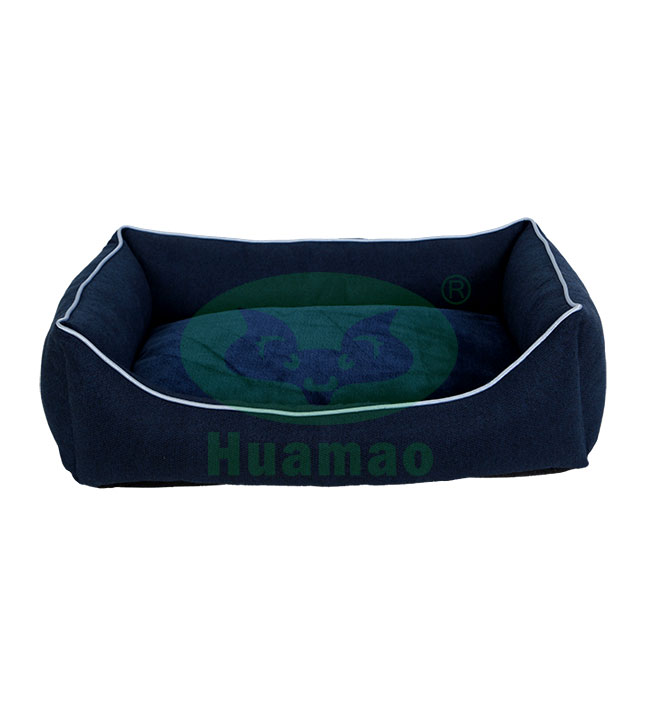 Dark Blue Rectangle Pet Bed Cushion